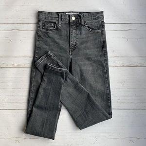 Topshop Jamie High Rise Skinny Jeans Washed Black